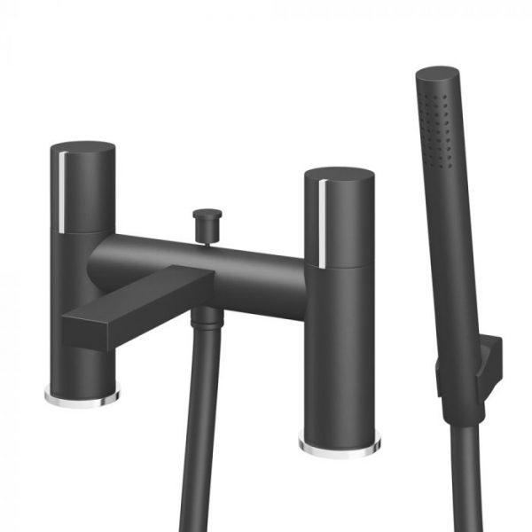 Bath Shower Mixer Black & Chrome 82026