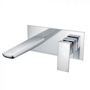 Zane Chrome Wall Mounted Bath Mixer 82038